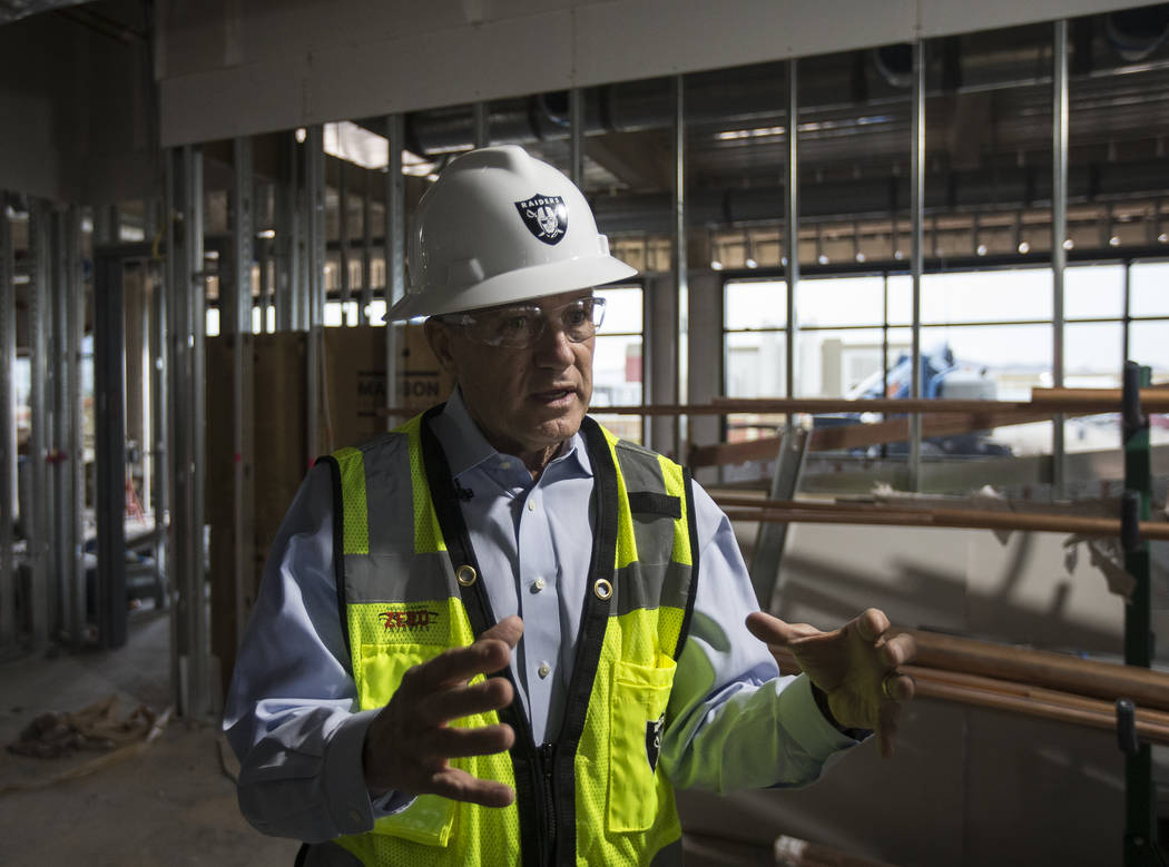 Las Vegas Stadium Co. Chief Operating Officer Don Webb discusses features of the future Raiders ...