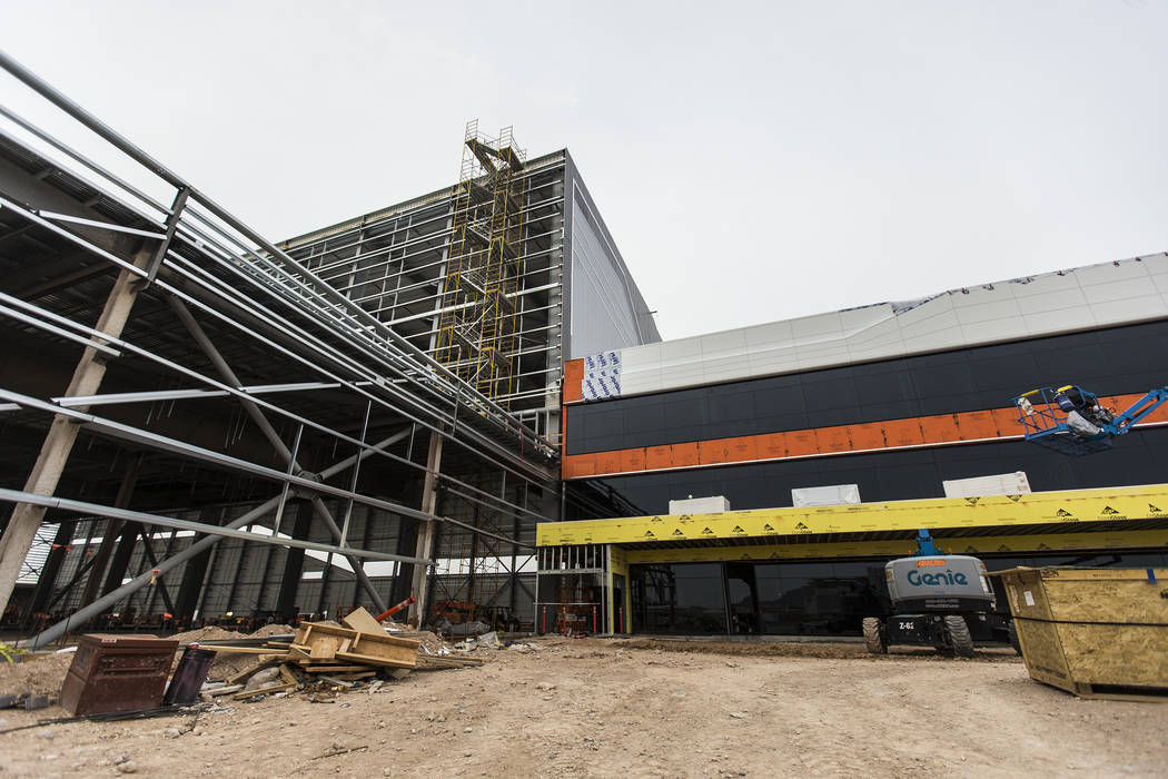 Construction continues on the future Raiders headquarters and practice facility on Tuesday, Dec ...