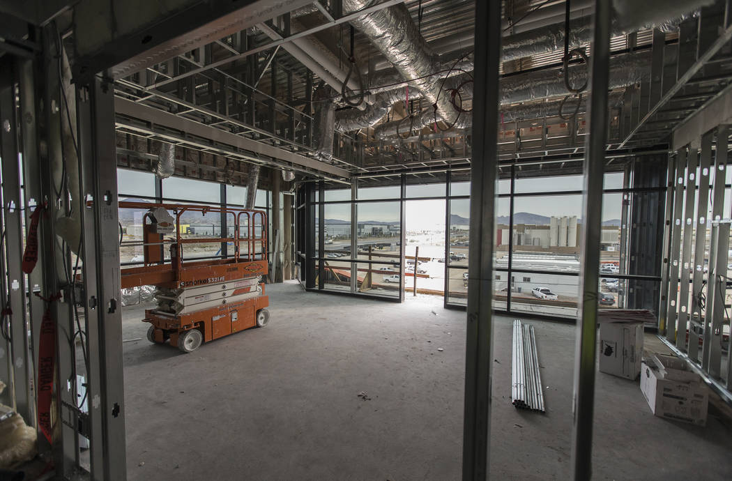 The office of Raiders owner Mark Davis at the future headquarters and practice facility of the ...