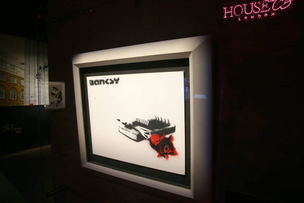 """Rose Trap"" on display in ""Banksy: Genius or Vandal"" at Immersion Vegas in ..."