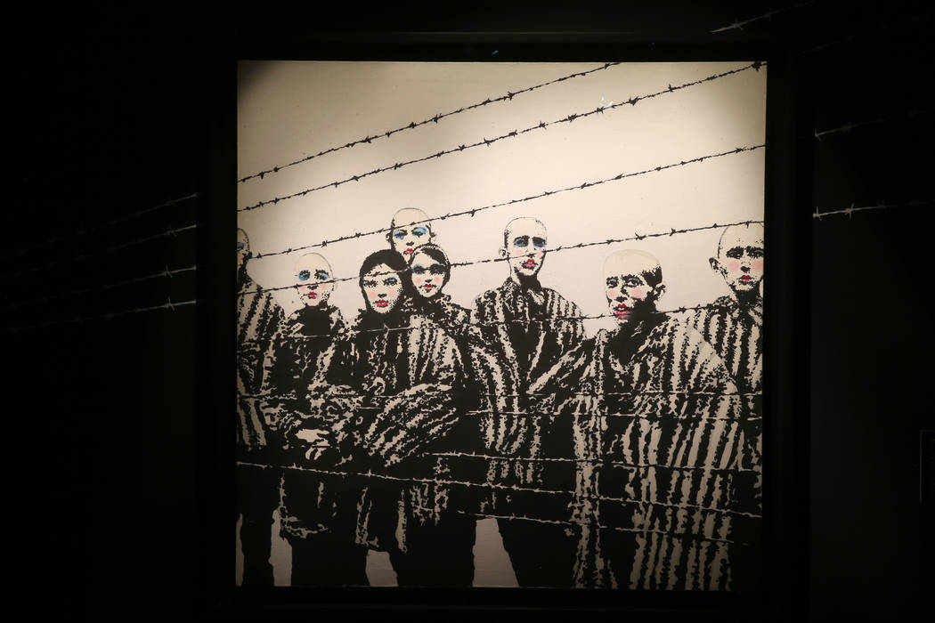 """Holocaust Lipstick"" on display in ""Banksy: Genius or Vandal"" at Immersion ..."