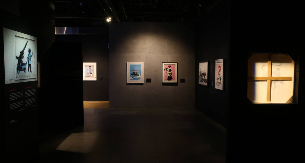 """Banksy: Genius or Vandal"" at Immersion Vegas in Fashion Show mall Tuesday, Dec. 3, 2 ..."