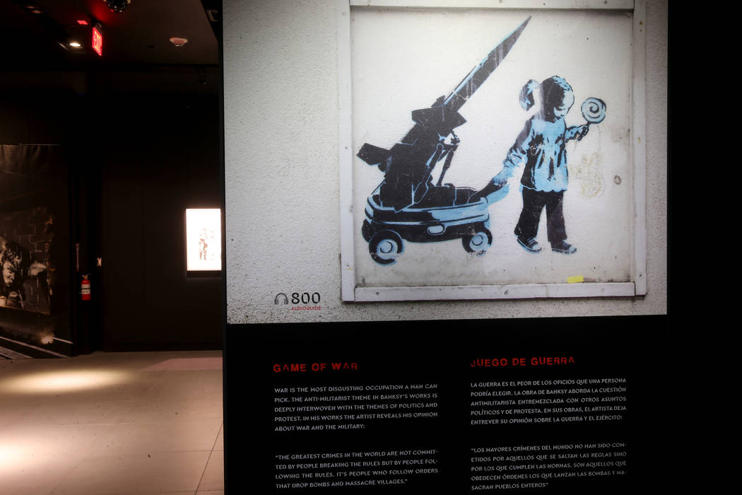 """Game of War"" on display in ""Banksy: Genius or Vandal"" at Immersion Vegas i ..."
