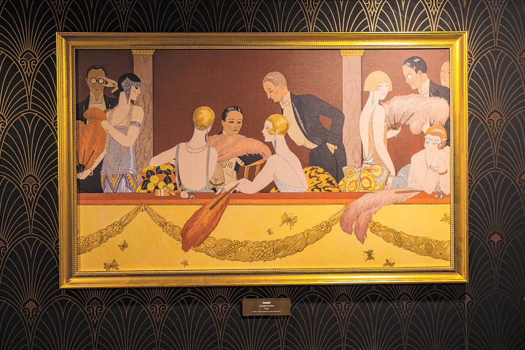 """A print of the painting """"Eventails"""" by Georges Barbier is one of the Prohibition-era ..."""