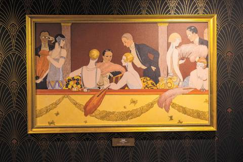 "A print of the painting ""Eventails"" by Georges Barbier is one of the Prohibition-era ..."