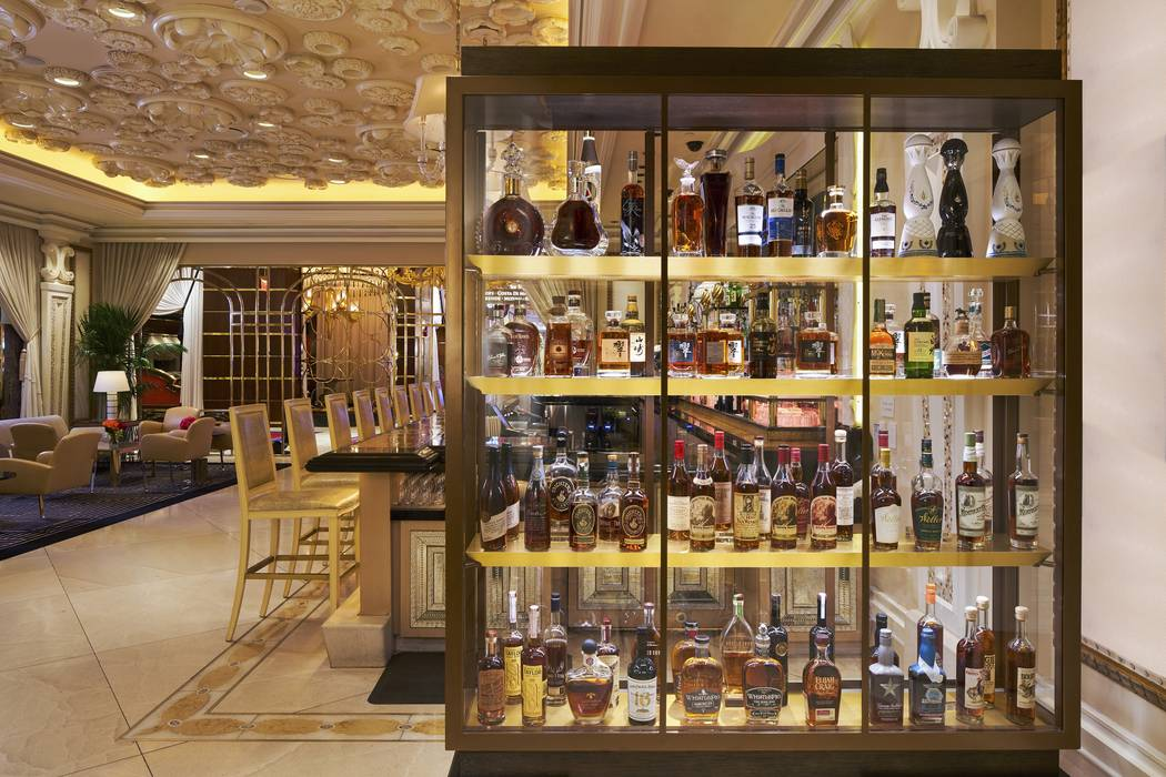 Tower Suites Bar's new liquor cabinet houses some of its finest spirits, including top American ...