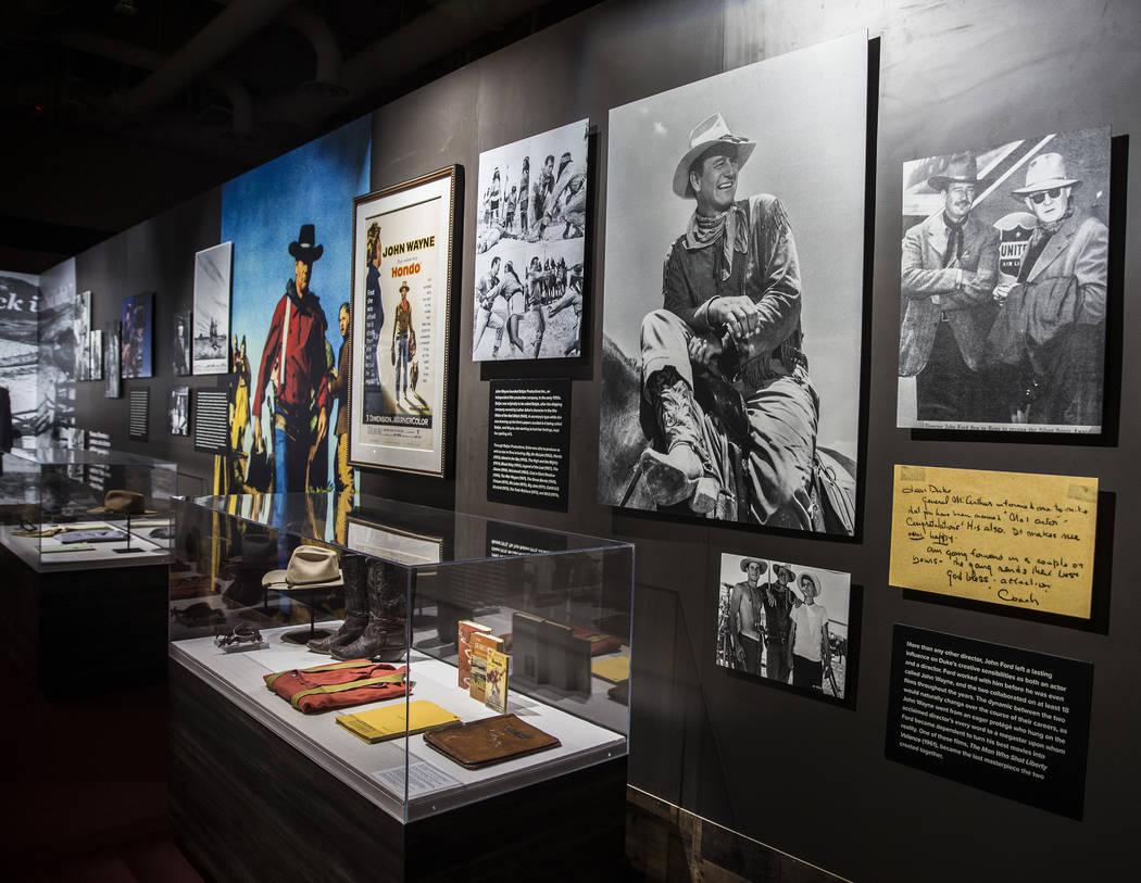 "Photographs and memorabilia of film icon John Wayne at the ""John Wayne: Spirit of the West ..."