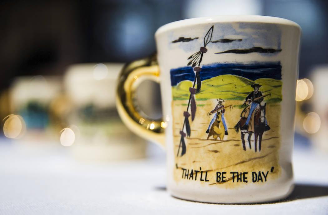 Twenty-four carat gold handled ceramic mugs gifted to cast members by film icon John Wayne&#xa0 ...