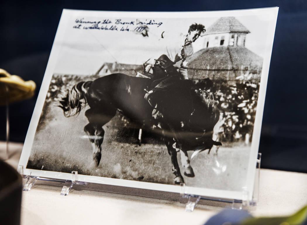 "Memorabilia at the ""John Wayne: Spirit of the West"" interactive exhibit on Wednesday ..."