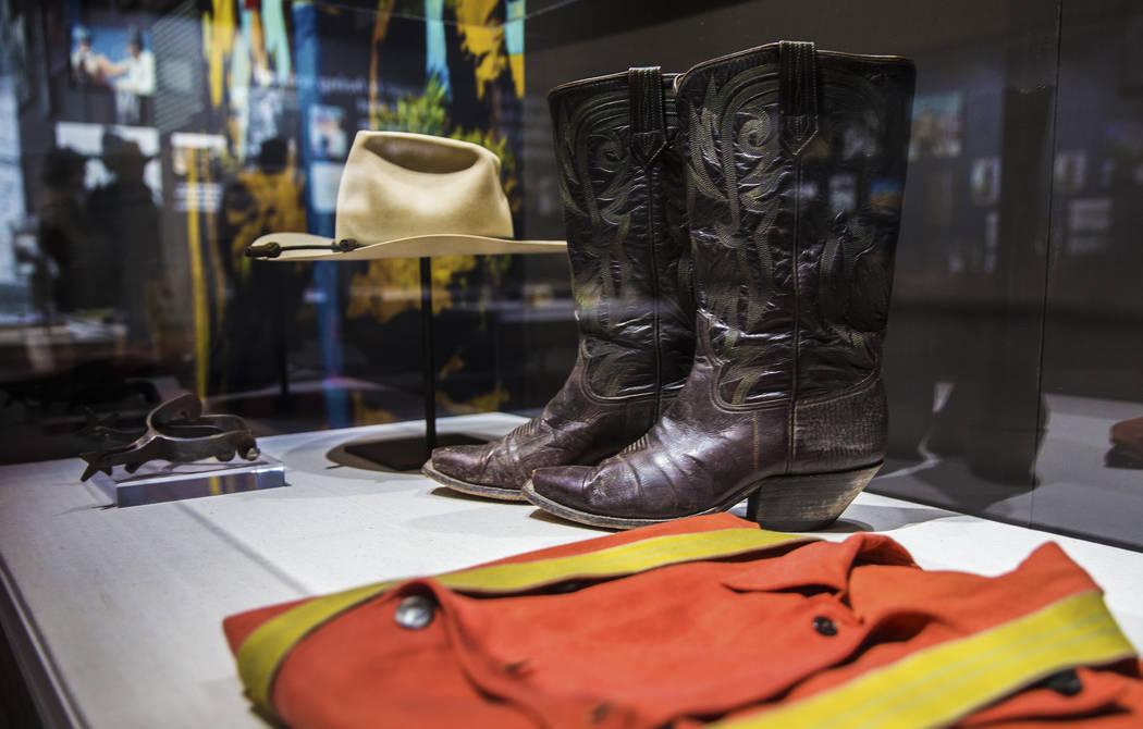 "Memorabilia of film icon John Wayne at the ""John Wayne: Spirit of the West"" interacti ..."