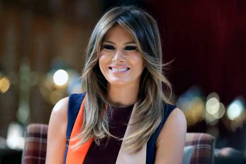 First lady Melania Trump. (AP Photo/Luca Bruno, Pool, File)