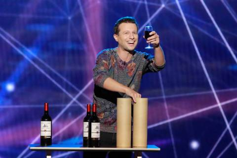 "Linq headliner Mat Franco is shown during a taping of ""Live with Kelly and Ryan"" at Paris Theat ..."