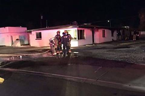The Las Vegas Fire Department is the lead investigating agency after a man was found dead after ...