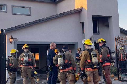 Nobody was home when Clark County firefighters battled a fire in a two-story residence at 5150 ...