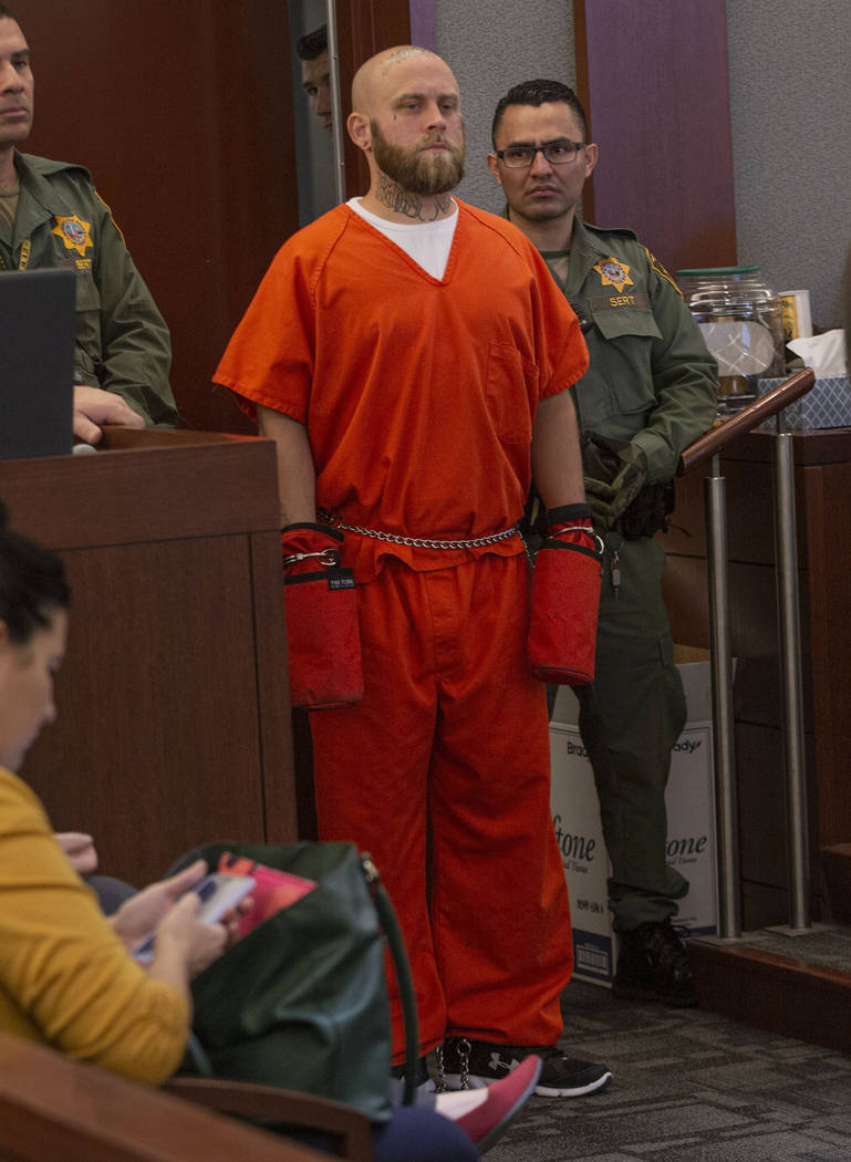 Bayzle Morgan is seen at a hearing at the Regional Justice Center in Las Vegas on Thursday, Dec ...