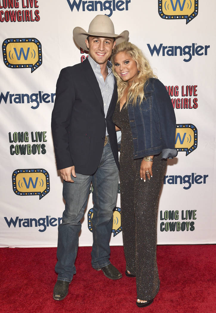 Sage Kimzey (L) and Alexis Bloomer attend the WNFR Party With Abandon at the Ling Ling Club in ...