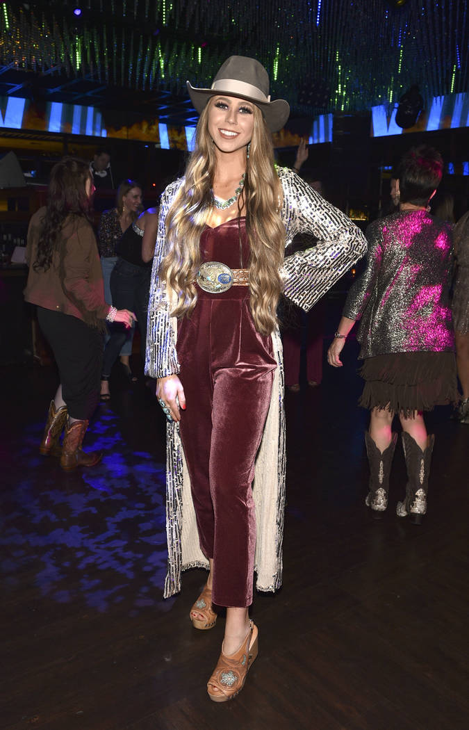 Shaley Ham attends the WNFR Party With Abandon at the Ling Ling Club in Hakkasan Las Vegas Rest ...