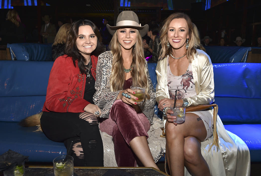Shaley Ham (C) attends the WNFR Party With Abandon at the Ling Ling Club in Hakkasan Las Vegas ...