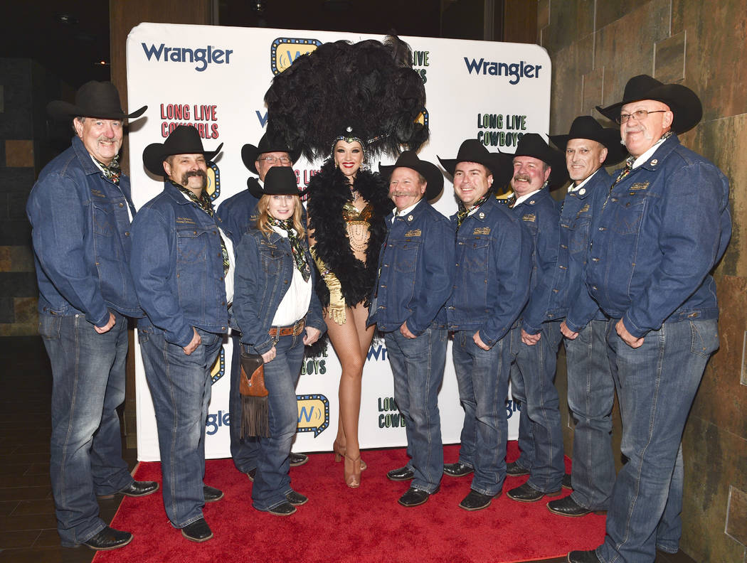 Members of the Cheyenne Frontier Days rodeo committee attend the WNFR Party With Abandon at the ...