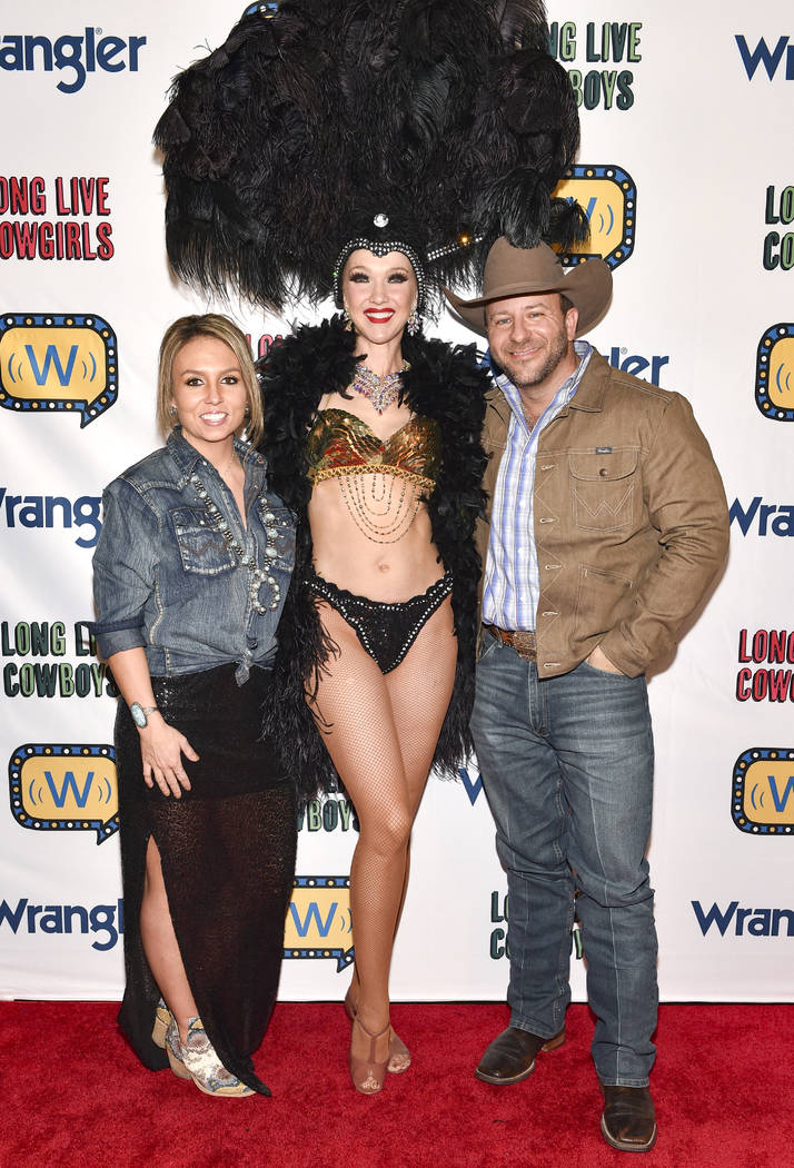 Matt West (R) attends the WNFR Party With Abandon at the Ling Ling Club in Hakkasan Las Vegas R ...