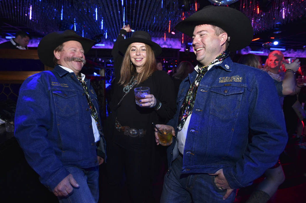 Membes of the Cheyenne Frontier Days rodeo committee attend the WNFR Party With Abandon at the ...