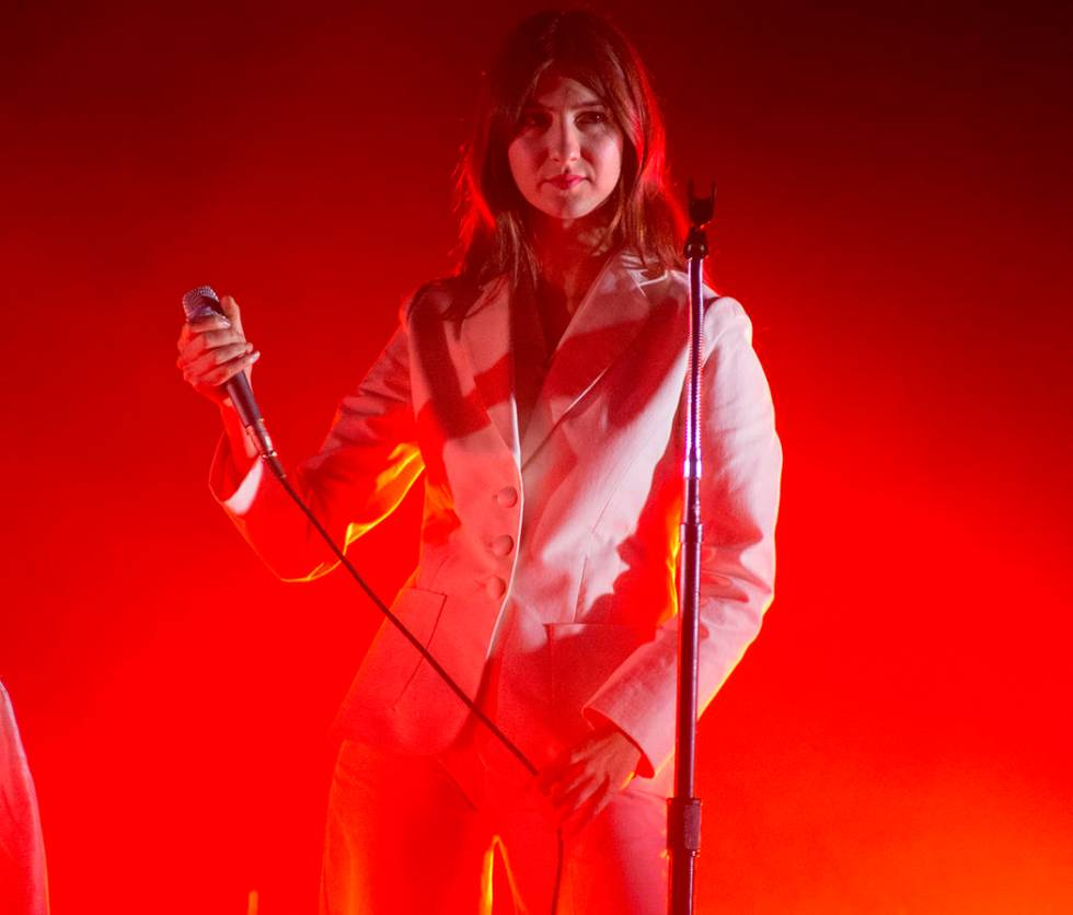 Natalie Mering of Weyes Blood performs in concert as the opening act for Kacey Musgraves during ...