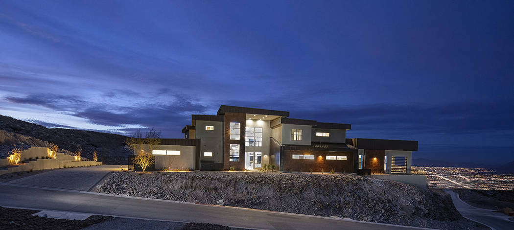 Las Vegas-based Edward Homes built this 8,600-square-foot home at 629 Dragon Peak Court. (Syner ...