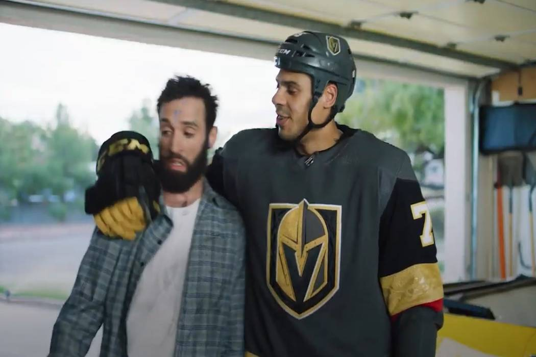 Golden Knights' Ryan Reaves appears in a PSA for the Southern Nevada Water Authority. (Screen c ...