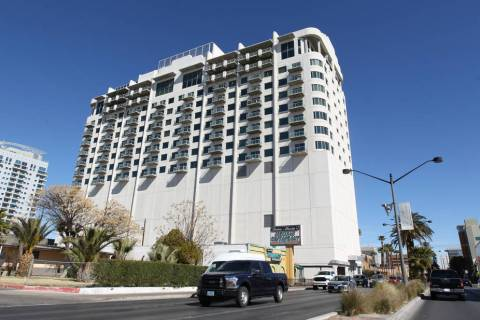 Newport Lofts, left, and Soho Lofts, where The Goodwich is located, are in downtown Las Vegas. ...