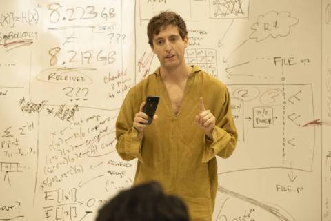 "Richard (Thomas Middleditch) in a scene from ""Silicon Valley"" (Eddy Chen/HBO)"