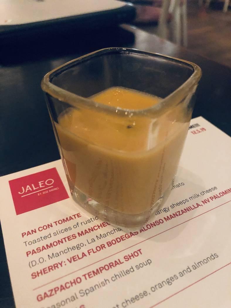 Gazpacho temporal is on the menu at Jaleo. (Al Mancini)