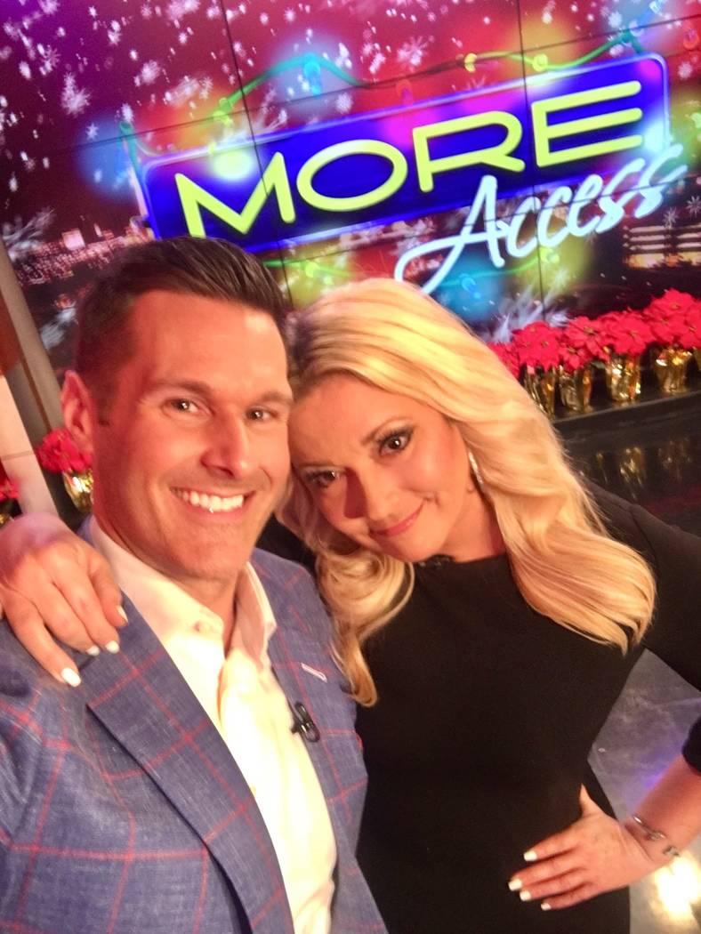 Sean McAllister and Rachel Smith are shown on McAllister's final appearance on KVVU Fox 5 on We ...