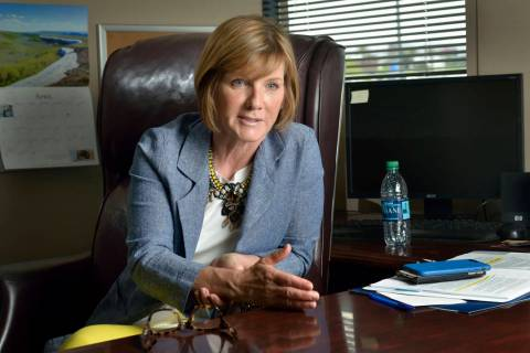Rep. Susie Lee, D-Nev., is shown during an interview in her office at 8872 S. Eastern Ave. in L ...