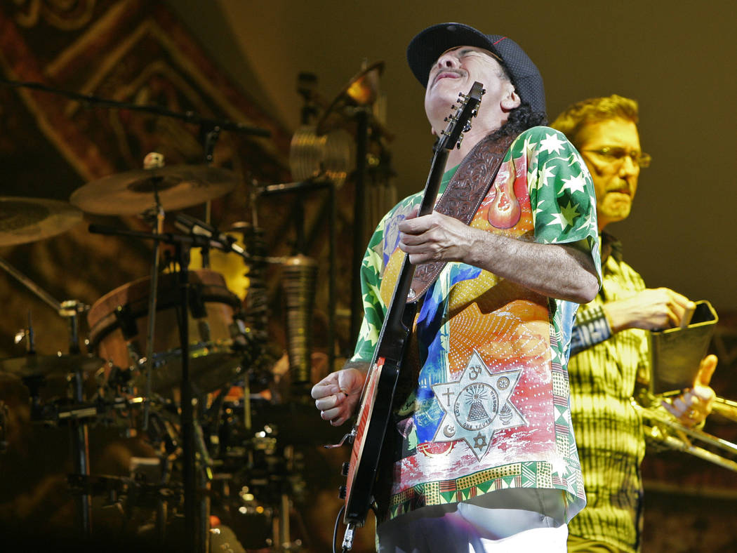 DUANE PROKOP/LAS VEGAS REVIEW-JOURNAL Carlos Santana performs on the opening night of his new s ...