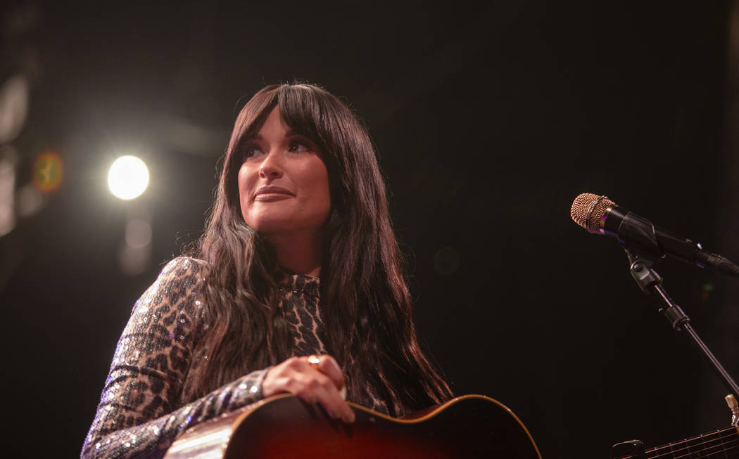 Kacey Musgraves smiles as the crowd cheers for her at Intersect Festival on Friday, Dec. 6, 201 ...