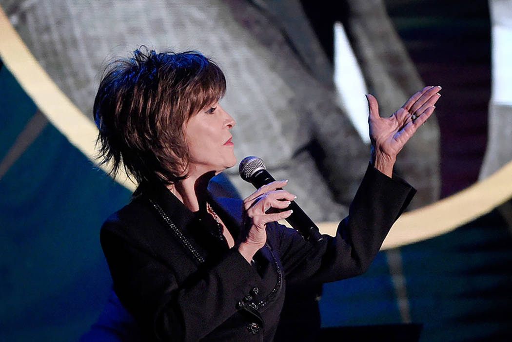 """Deana Martin sings during her 2017 """"Deana Sings Dino"""" concert at the South Point in Las Vegas ..."""