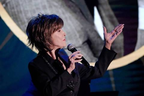 "Deana Martin sings during her 2017  ""Deana Sings Dino"" concert at the South Point in Las Vegas ..."