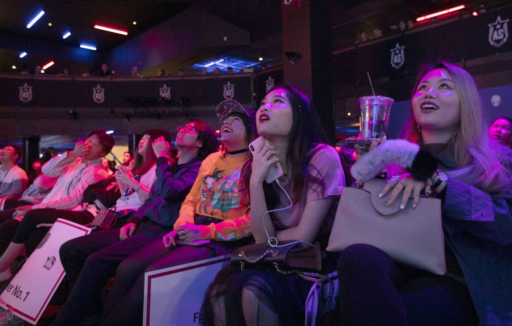 The audience is riveted while watching the League of Legends All-Star Event on Saturday, Dec. 7 ...