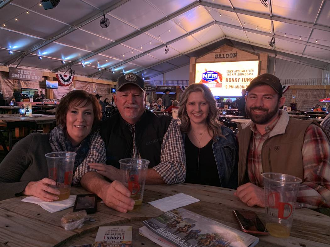 From left, Julie Moore, Bill Moore, Katie O'Leary and Kyle Moore settle in for an evening of Wr ...
