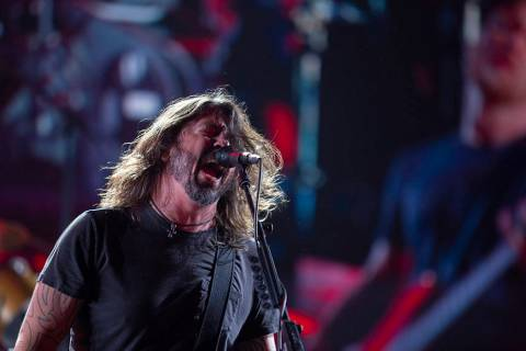 Dave Grohl of the Foo Fighters screams into the microphone on Saturday, Dec. 7, 2019, at Inters ...