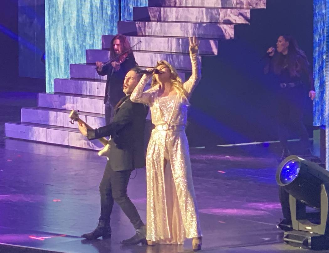 """Shania Twain performs her """"Let's Go"""" residency at Zappos Theater on Saturday, Dec. 7, 2019. (Jo ..."""