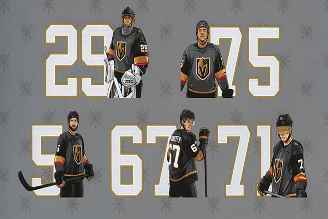 Smith's Golden Knights player patches. (Smith's Food and Drug)