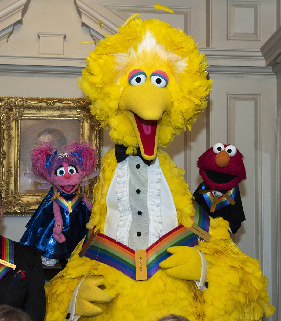 """2019 Kennedy Center Honorees, Abby Cadabby, Big Bird, and Elmo, characters from """"Sesame St ..."""