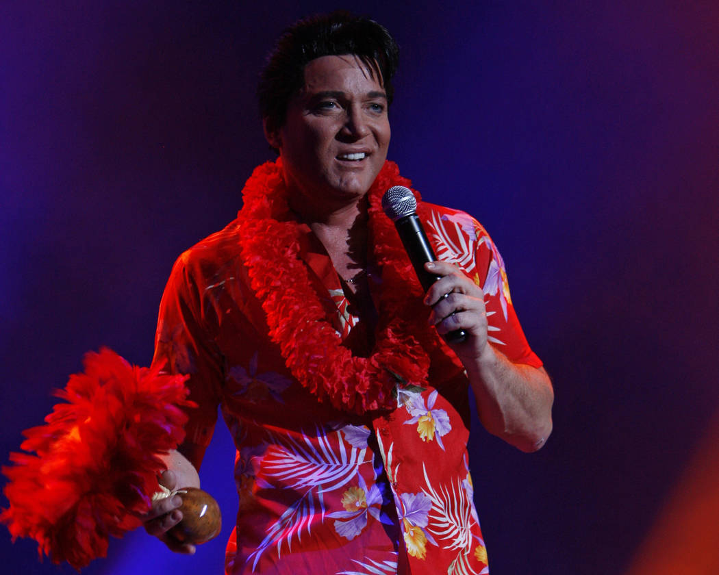 "Elvis Presley tribute artist Trent Carlini performs during his show ""Trent Carlini Elvolution"" ..."