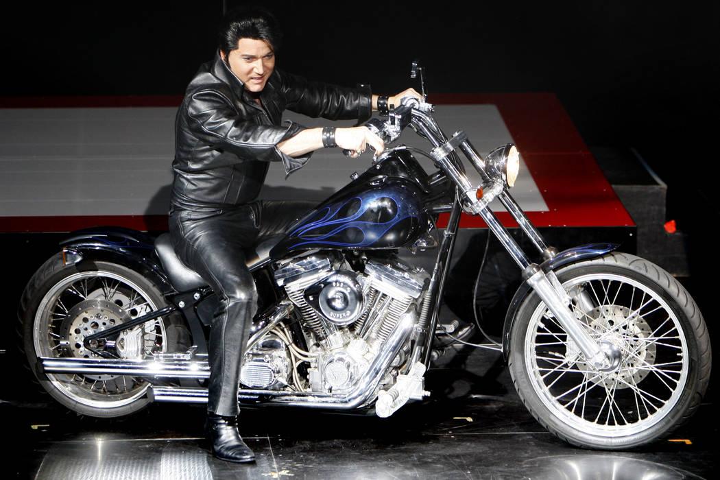 "Elvis Presley tribute artist Trent Carlini performs during his show ""Trent Carlini Elvolution"" ..."