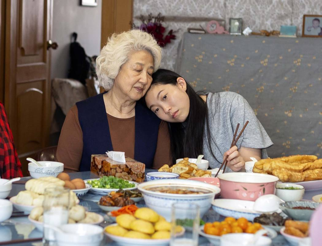 """This image released by A24 films shows Zhao Shuzhen, left, and Awkwafina in a scene from """" ..."""