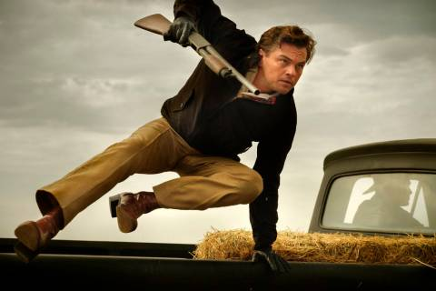 "This image released by Sony Pictures shows Leonardo DiCaprio in Quentin Tarantino's ""Once ..."