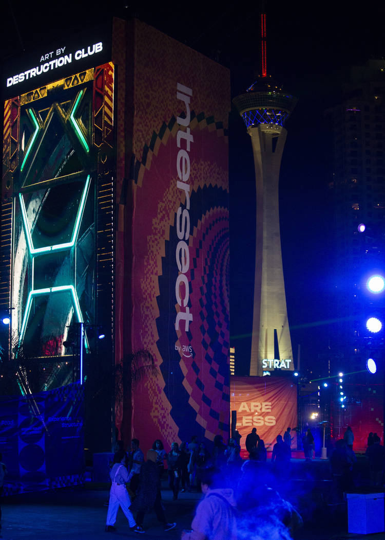The first night of Intersect Festival is underway on Friday, Dec. 6, 2019, in Las Vegas. (Ellen ...
