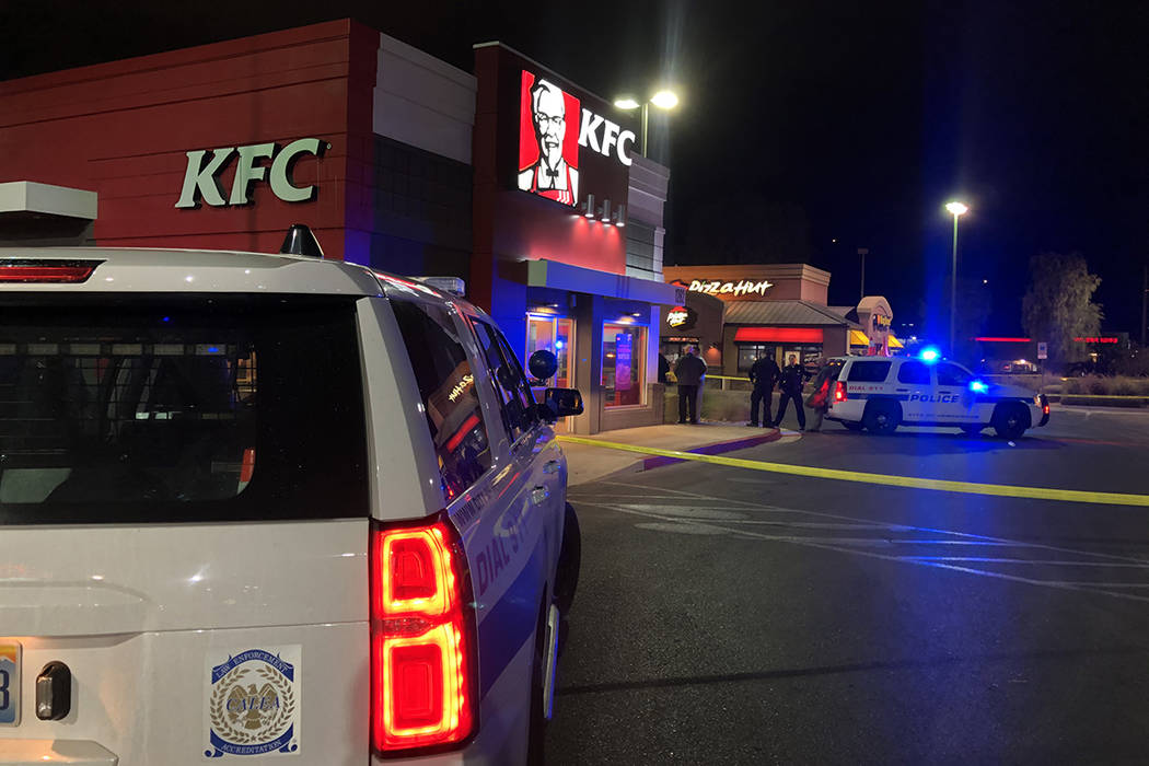 Henderson police investigate a shooting Wednesday, Nov. 20, 2019. (James Schaeffer/Las Vegas Re ...