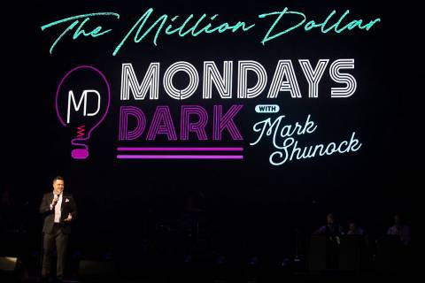 Mark Shanuck, creator of Mondays Dark, a twice-monthly event that raises money for charity, spe ...